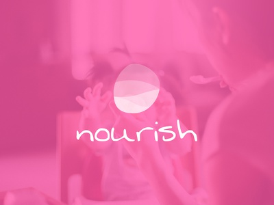 Nourish meditation pebble symbol mark logo brand identity identity pink mom mother nourish branding