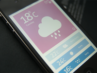 Weather App PSD Freebie