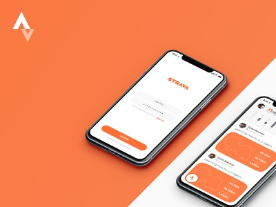 A Pet Project design perspective mockup ui ios mobile app orange sports fitness workout excercise strava