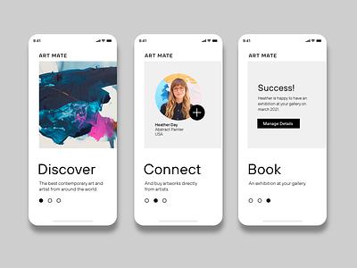 Daily UI 23. Onboarding blackandwhite minimalist contemporary art design dailyuichallenge mobile design mobile ui dailyui ui design interfacedesign adobexd