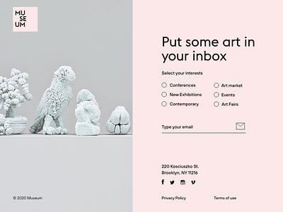 Daily UI 026. Subscribe art museum website museum of art museum web dailyuichallenge design ui ui design interfacedesign dailyui adobexd