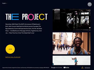 Global Ode to Joy web design web music beethoven ui design interfacedesign adobexd
