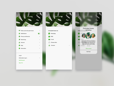 Daily UI 007. Settings plant lovers plants mobile ui ui mobile design interfacedesign design adobexd ui design dailyui