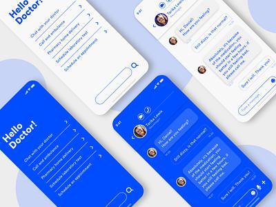 Daily UI 013. Direct Messaging medical care medical app dailyuichallenge mobile design mobile ui ui ui design interfacedesign dailyui adobexd