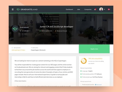 Job page preview