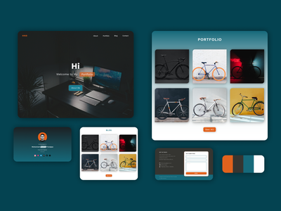 Personal Page blog figma single page website personal page portfolio website