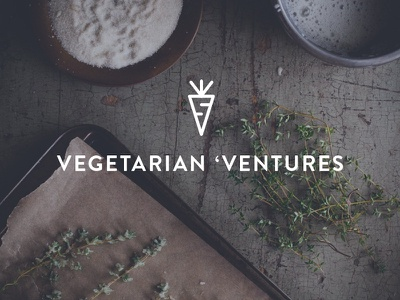 Vegetarian 'Ventures logo carrot icon food