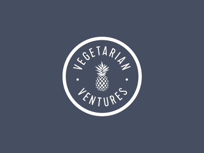 Vegetarian Ventures logo mark pineapple food
