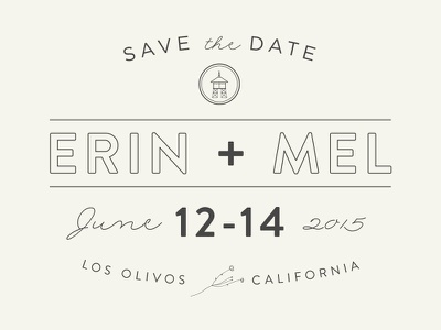 Save The Date: Erin plus Mel save the dates wedding icon