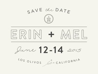 Save The Date: Erin plus Mel