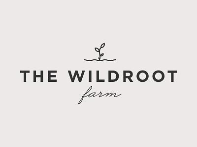 The Wildroot Farm logo farm plant branding logo
