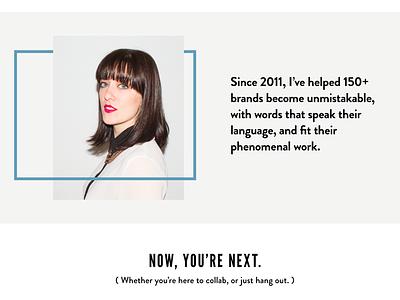 Hweiss Website bold copywriter website
