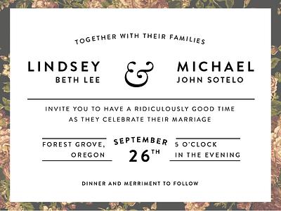 Lindsey & Michael Invitations invitations wedding