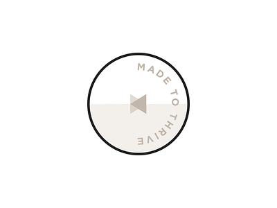 Made to Thrive branding icon mark logo