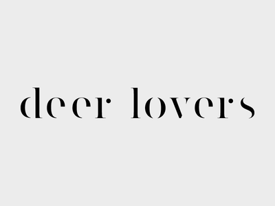 Deer Lovers logo serif clean simple photography branding logo