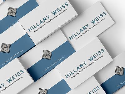 Hillary Weiss business cards branding business cards print