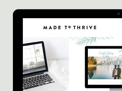 Made to Thrive branding design development website
