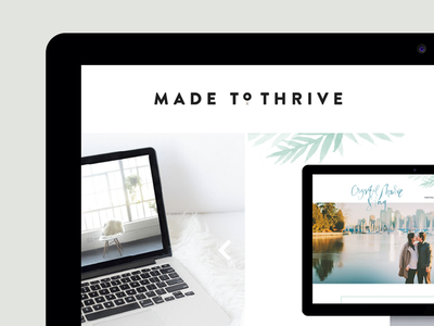 Made to Thrive branding design development website
