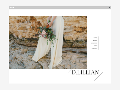 Dlillian Photography website simple layout website photography