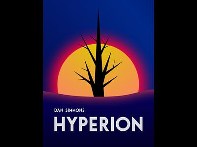 Dan Simmons - Hyperion, book cover book cover design dribbbleweeklywarmup book cover illustration geometric gradient