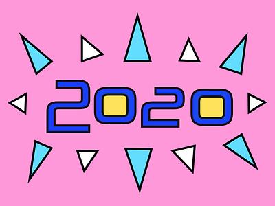 2020 pink retro geometic 2020