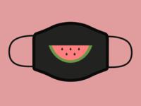 watermelon mask minimalism smile face mask mask watermelon
