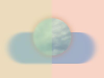 Soft sky geometric design transparency sky overlay blur geometric
