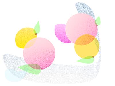 Fruits geometric textured texture illustration fruits fruit