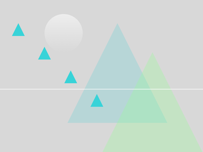 Panorama triangles mountains geometric