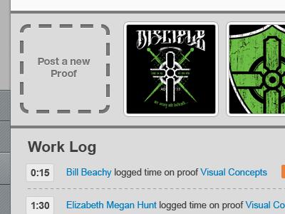 Proof Lab: Task Detail ui website app