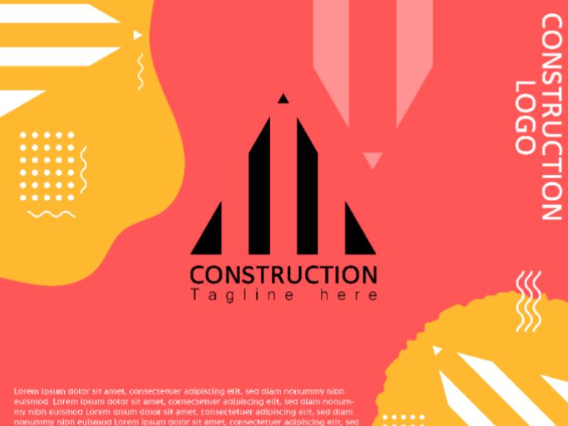 Construction Logo design business card corporeat logo business logo unique deaign construction logo logo design