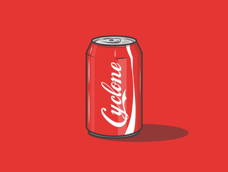 Cyclone Soft Drink vector cola creative minimal illustrator illustration icon graphic design flat design art