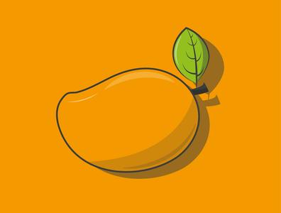 Mango creative vector minimal illustrator illustration icon graphic design flat design art