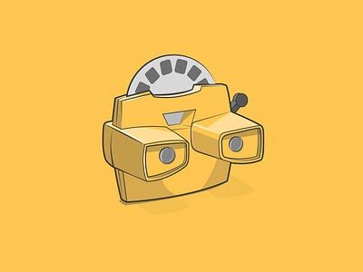 3D viewer toy design old school 3dviewer icon creative vector minimal illustrator illustration graphic design flat design art