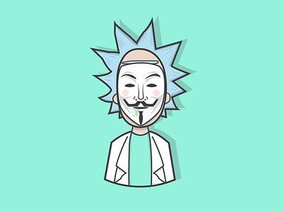 Sanchez rick and morty creative vector minimal illustrator character design illustration graphic design flat design art