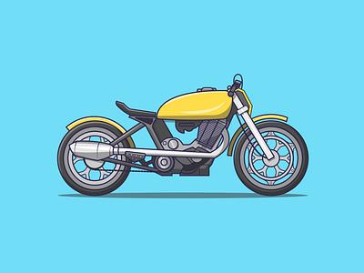 Bike motorbike icon illustrator creative vector minimal illustration graphic design flat design art