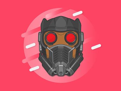 Star-Lord starlord marvel flat design illustrator creative vector minimal illustration graphic design flat design art
