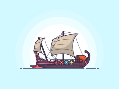 Plunder viking flat design illustrator creative vector minimal illustration graphic design flat design art