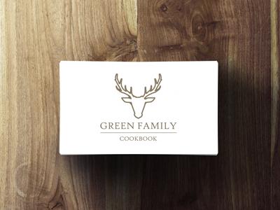 Green Family Cookbook Logo logo design illustration stag vector logo design