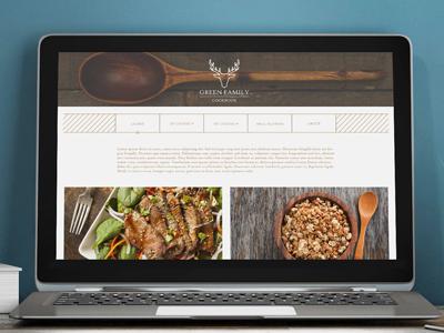 Green Family Cookbook web design web design graphic branding