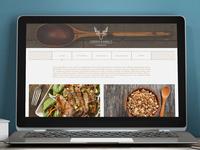 Green Family Cookbook web design