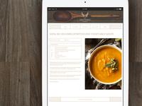 Green Family Cookbook - Recipe Page design