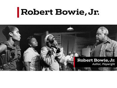 Logo for Playwright Robert Bowie Jr. writer banner website logo branding