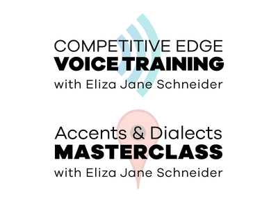 Logo System for Competitive Edge Voice Training voiceover acting voice website logo branding