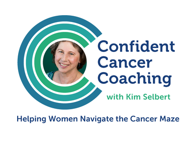 Logo for Confident Cancer Coaching - White cancer concentric museo logo branding