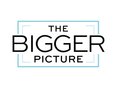 Logo for The Bigger Picture Productions website production commercial logo branding