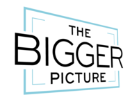 Logo for The Bigger Picture Productions - Rotated