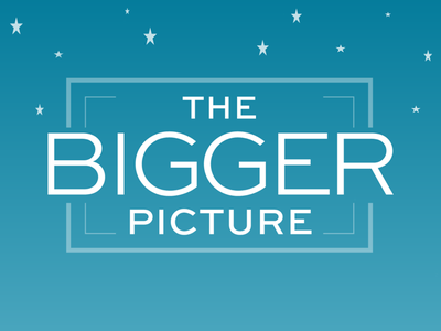 Logo for The Bigger Picture Productions - Star Background production commercial website logo branding