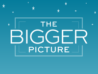 Logo for The Bigger Picture Productions - Star Background