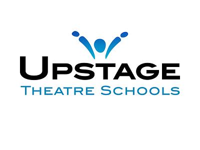 Logo for Upstage Theatre Schools school theatre kids logo branding